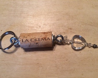 Recycled wine cork, key chain!