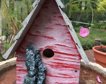 Unique Outdoor Reclaimed Wood Birdhouse  #91605
