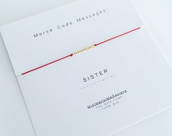 SISTER - Morse Code Bracelet