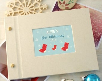 Personalised First Christmas Mini Photo Album