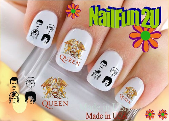 Character nail decals queen rock band group like this item prinsesfo Images