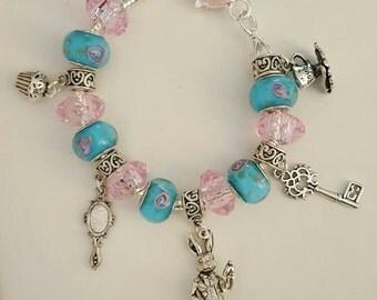 Alice in wonderland white rabbit inspired bracelet