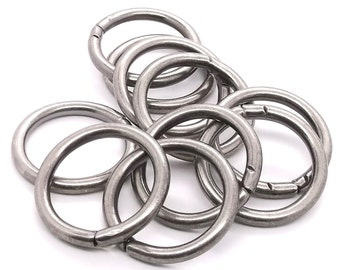 """Ring Smooth Antique Nickel 10 Pack 1-1/4"""" (3.2 cm) 1824-21"""