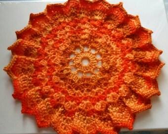 Crochet doilie pad