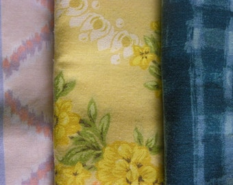 Vintage • Trio of Standard Pillow Cases | Standard Pillow Cases | Home Decor Linens Crafting Art