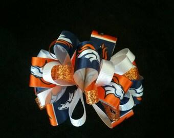 Denver Broncos Loopy Puff bow