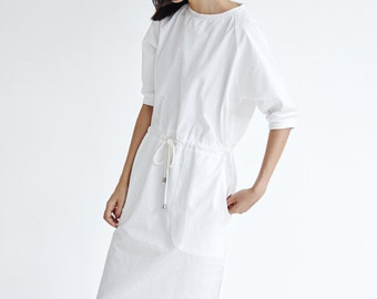 Womens White Cotton Dresses,Simple Everyday Dress
