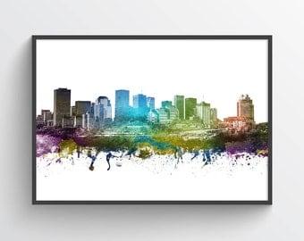 Edmonton Skyline Poster, Edmonton Cityscape, Edmonton Print, Edmonton Art, Edmonton Decor, Home Decor, Gift Idea, CAABED01P