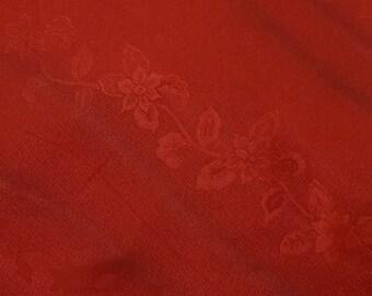 Vintage Japanese Silk Kimono Fabric Claret Karabana