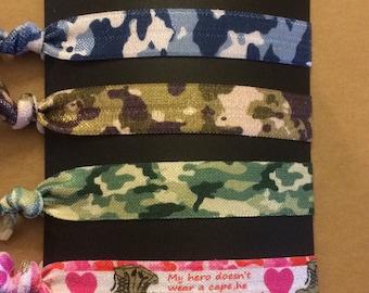 Set of 4 Military hair ties.