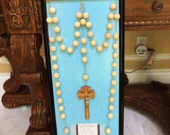 Wall Rosary, Hanger, Frame Set (sky blue)