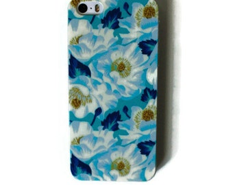 Blue and White Flowers iPhone 5s Case