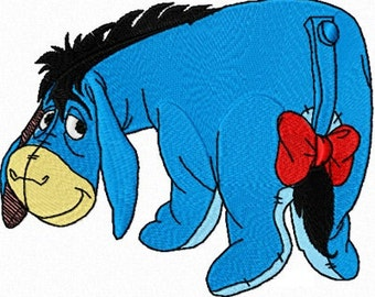Eeyore from Winnie the Pooh Embroidery Design pattern- several formats - Instant Download