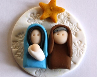 Nativity polymer clay/fimo embellishment/magnet BUY any 5 GET 1 FREE