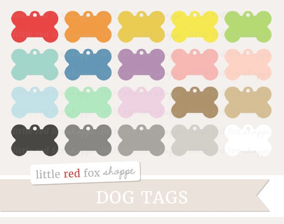 Cute Tags: Dog Tag Clipart Pet Tag Clip Art Dog Collar Doggie Name Tag