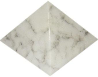 White Magnesite Pyramid. Siberian Region, Russia