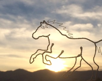 Wire Horse Ornament, Galloping Horse, Arion