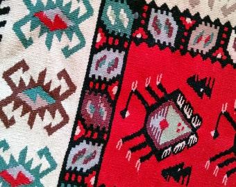 RESERVED - Old Persian Balisht Kilim Saddle Bag Pillow Cover - Yomut - Turkmen - Bolesht