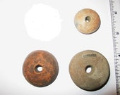 Pre Columbian and Danish Spindle Whorls - Stone or Ceramic -  Your Choice Same Price Each