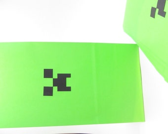 Set of 6 - all occasion Loot or favour paper Bags for the Gamer who loves Mine Craft and creepers. Perfect for a birthday party!