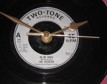 "The Selecter on my radio  7"" vinyl record clock"