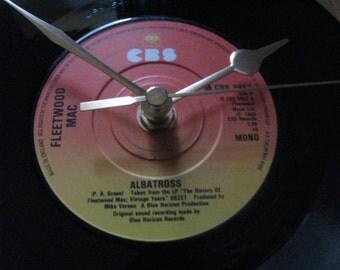 """Fleetwood Mac albatross  7"""" vinyl record clock"""