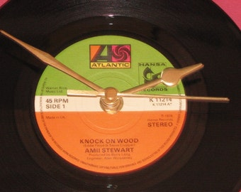 "Amii Stewart knock on wood  7"" vinyl record clock"