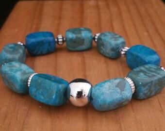 Turquoise Jasper Stretchy Bracelet
