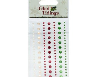 Dovecraft Glad Tidings 124 adhesive pearls