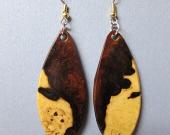 Desert Ironwood Exotic Wood Earrings, Handcrafted by ExoticWoodJewelryAnd Hypoallergenic wires