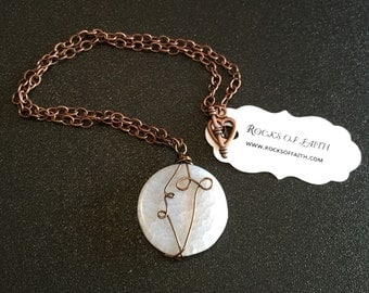 MOON necklace SIMPLY wire wrapped