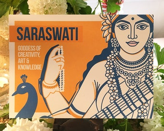 Saraswati Creativity Altar Card