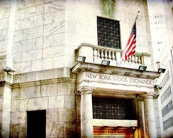 New York City Photography, NYC, travel photography New York City photo, architecture, home decor, gold, New York Stock Exchange, urban decor
