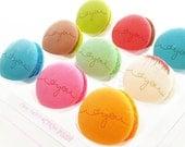 Box of 9 Custom French Macarons