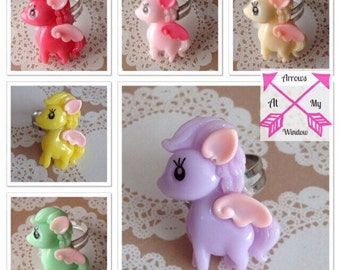 Pony ring, Kawaii pony ring, Pegasus ring, Kawaii jewellery, Kawaii pony, Kawaii ring, Kawaii rings, Childs ring,