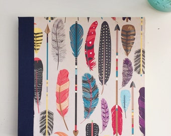 Feathers Sketchbook, Navy binding