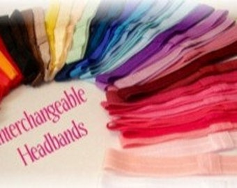 10 pack assorted elastic headbands-Interchangeable