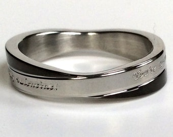 Mens Ring, Custom Ring, Personalized Ring, Titanium Ring
