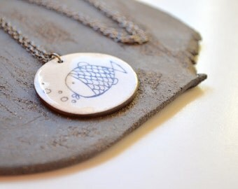 Ceramic necklace. Ceramic jewelry