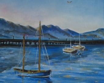 San Francisco Bay, Sailboats, Landscape