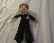 Vintage Norah Wellings Sailor doll. With R.M.S. Queen Mary on the sailors hat. Sale. Originally 40.00 now 32.00