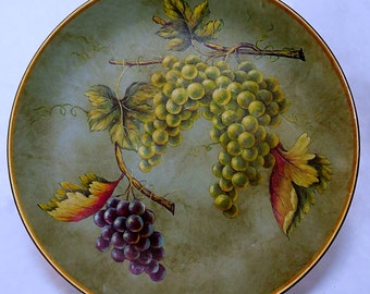 Vintage Decorative Grape Motif Plate