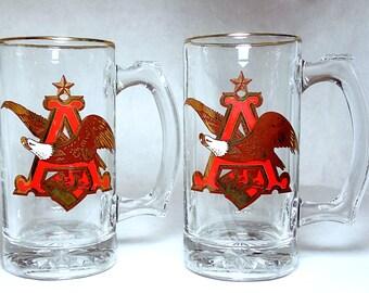 Vintage Anheuser Bush Beer Mugs