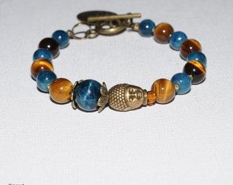 Bracelet Tiger Buddha eye apatite