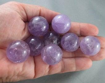 "Amethyst Sphere 1"" - Chakra Healing Crystals & Stones, Amethyst Crystal Ball, Reiki Healing, Crystal Sphere, Meditation Stones (T237)"