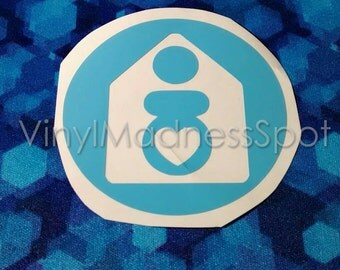 Home birth decal  (2.75 inches all around) backyard birth natural birth decal