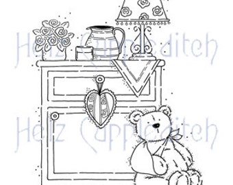 "Stampavie Clear Stamp ""Teddy Get Well Soon""/Helz Puppleditch"