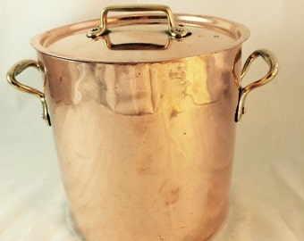 French Copper Stock Pot