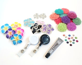 DIY Badge Reels Kit - How To Make Your Own Badge Reels - DIY Badge Holder Set - Wholesale Badge Clips - High Quality Retractable Badge Reels