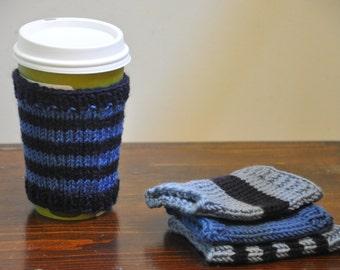 Coffee sleeve hand knit